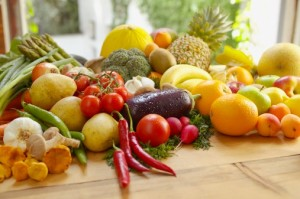 Variety of fruits and vegetables